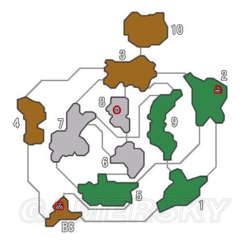 魔物獵人XX 密林地圖採集點及採集道具