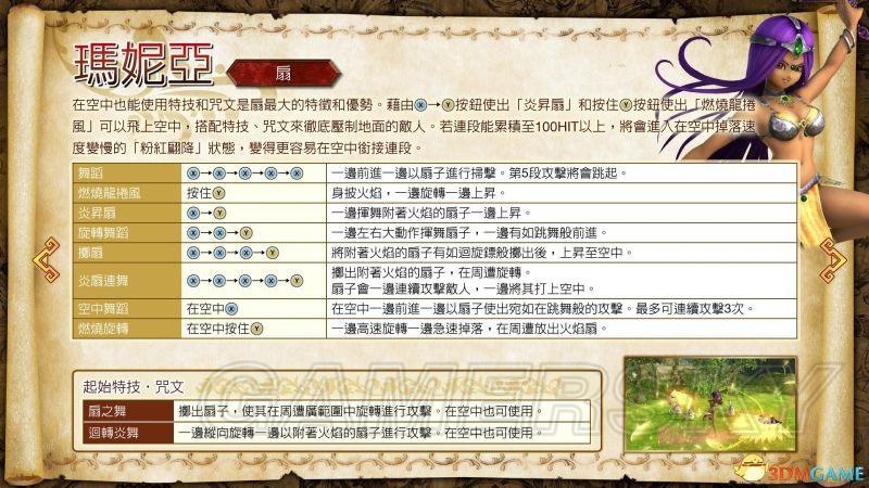 勇者鬥惡龍 英雄集結2 角色介紹及按鍵出招說明