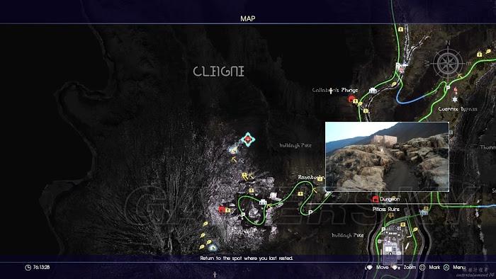 太空戰士15 (Final Fantasy XV) 全幻影劍及隱藏迷宮位置