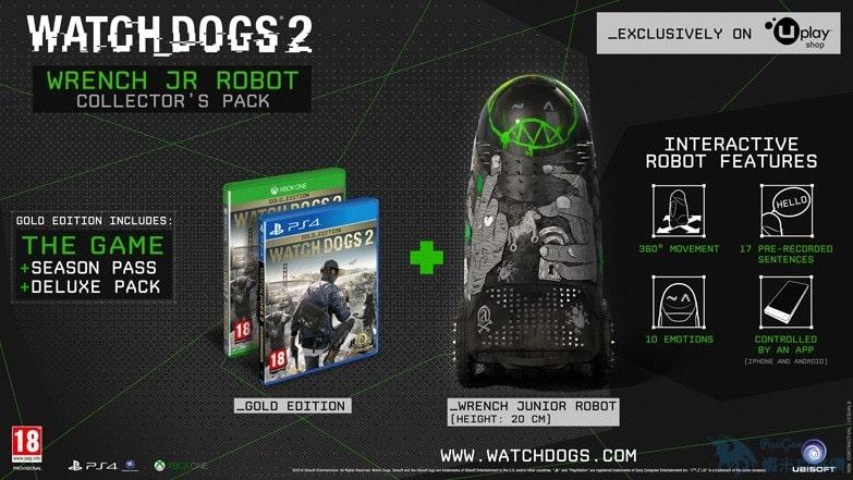 《看門狗2》預購特典 能跑會笑的小扳手機器人