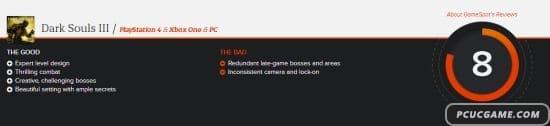 《黑暗靈魂3》媒體評分出爐:IGN 9.5分、GameSpot 8分
