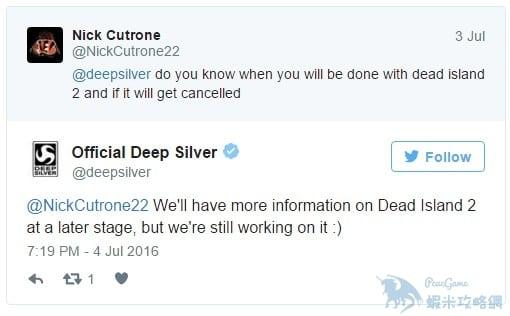 《死亡島2》並未取消開發 官方稱將在合適時間展示