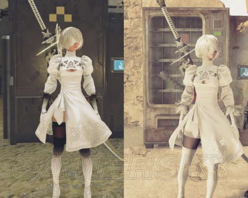 尼爾 自動人形 2B白色裙子服裝替換Mod下載及使用說明