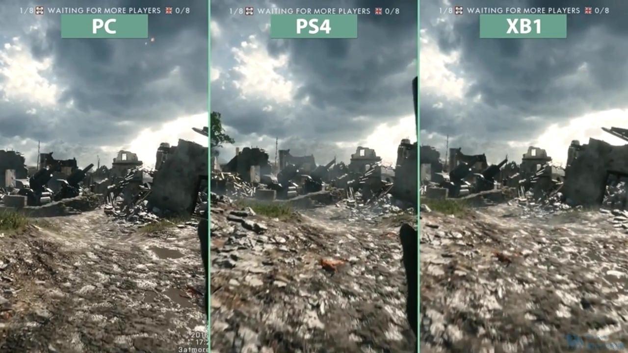 《戰地風雲1》PC最高畫質與主機幀數對比 PC更勝一籌