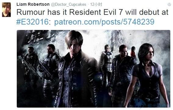 E3 2016:《惡靈古堡7》可能將亮相 人氣角色威斯卡回歸