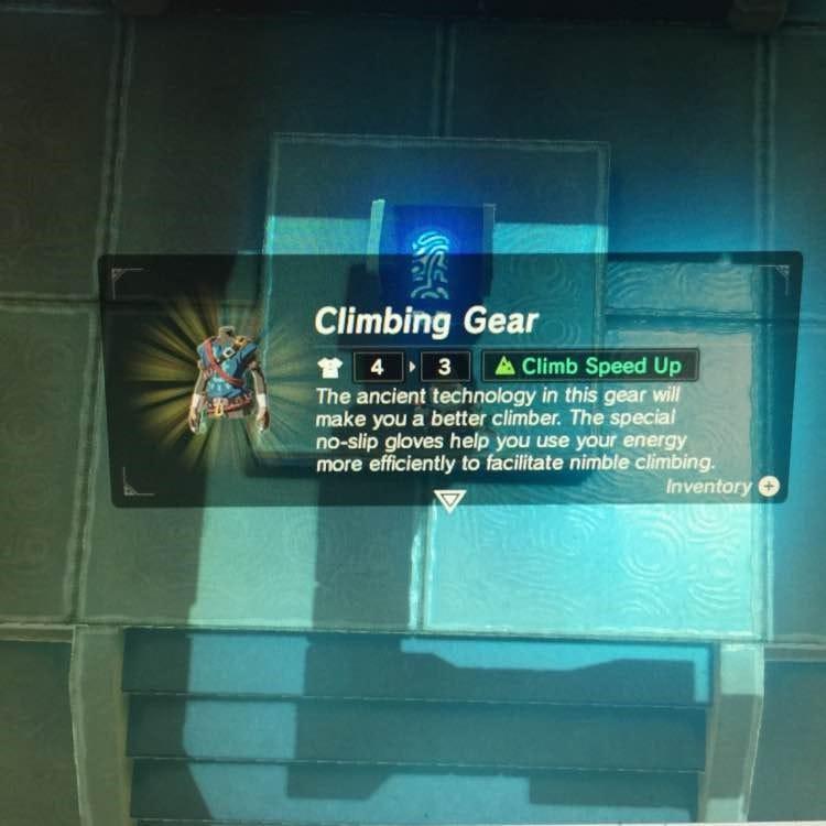 薩爾達傳說荒野之息 攀爬套裝位置介紹 攀爬套裝在哪