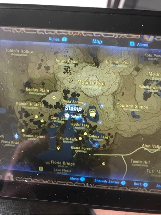 薩爾達傳說荒野之息 榴蓮採集地圖