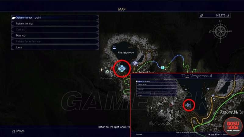 最終幻想 15 Final Fantasy XV(FF15) 七色蛙在哪 生物學家的試煉任務七色蛙位置