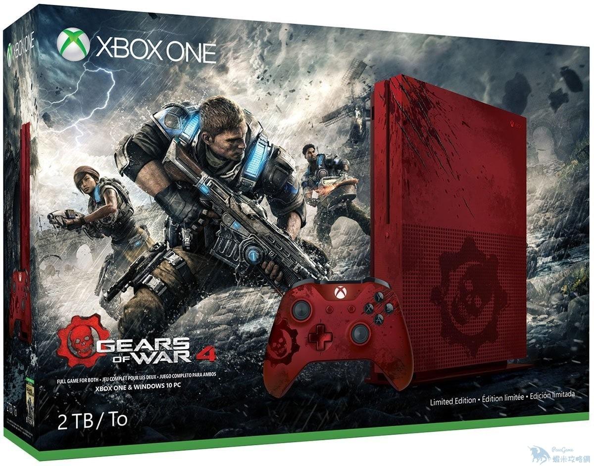 《戰爭機器4》限定版Xbox One S開啟預購 一片猩紅