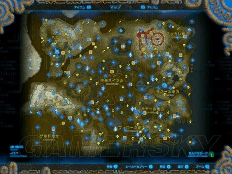 薩爾達傳說荒野之息 各怪物位置地圖