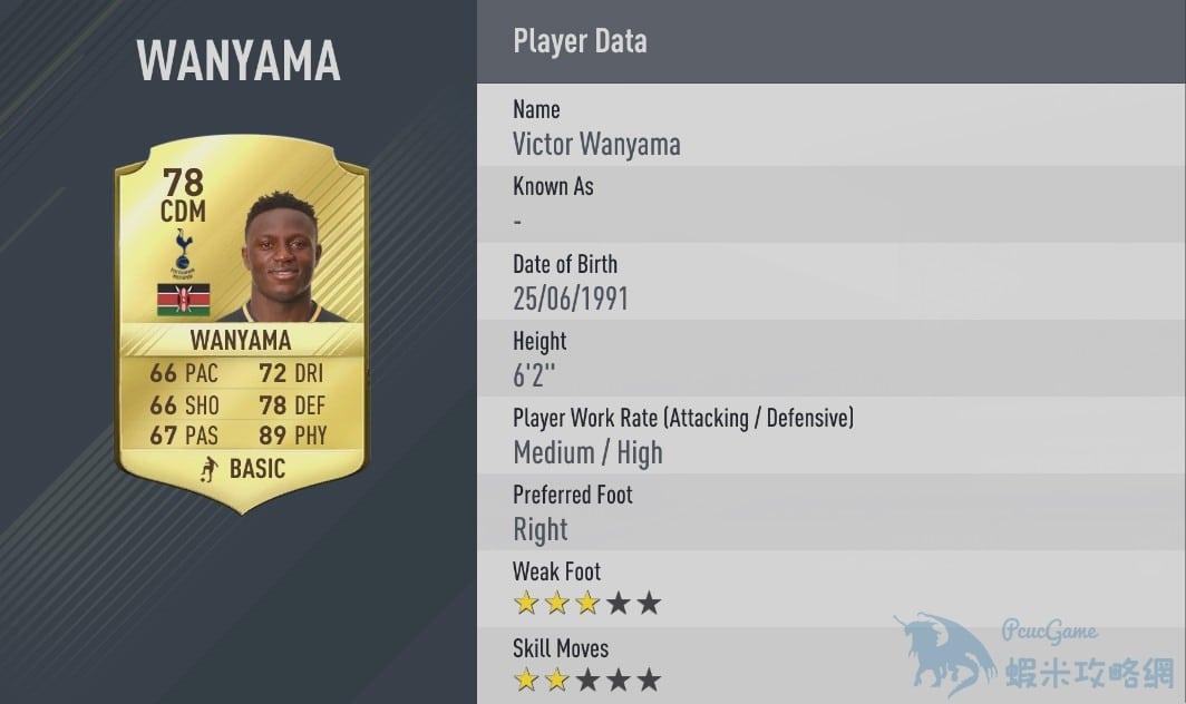 FIFA17 體格排名 誰體格值最高