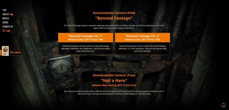 惡靈古堡7 DLC內容介紹 4個DLC的額外章節劇情情報