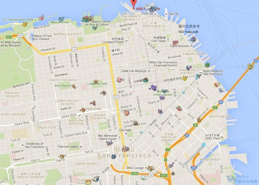 【攻略】Pokemon GO 寵物出生點統計 舊金山精靈集中區