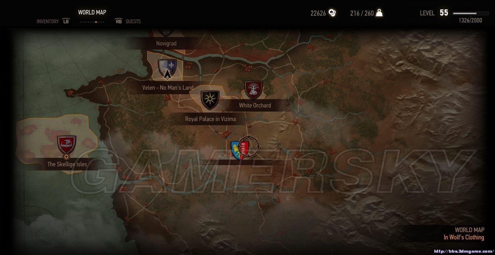 巫師3 DLC血與酒地圖 DLC血與酒陶森特公國地圖介紹