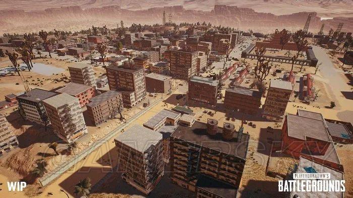 絕地求生 新沙漠地圖平面圖