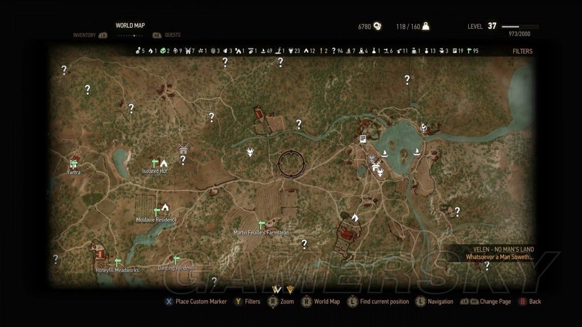 巫師3 石之心威倫地圖 本體與石之心威倫地圖對比