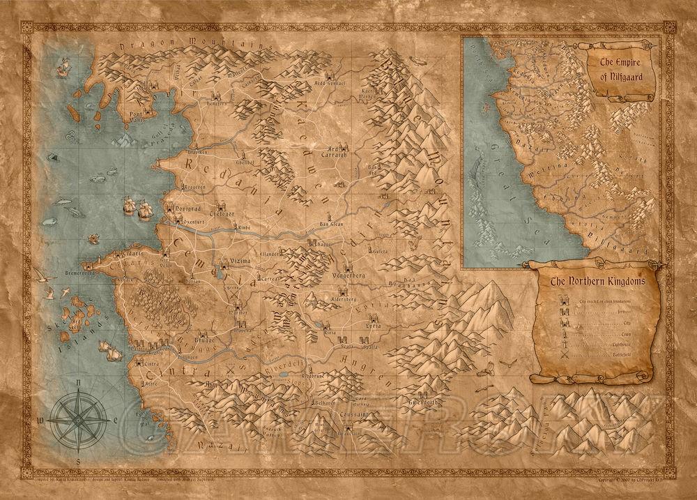 巫師 世界地圖 獵魔人世界全區域地圖