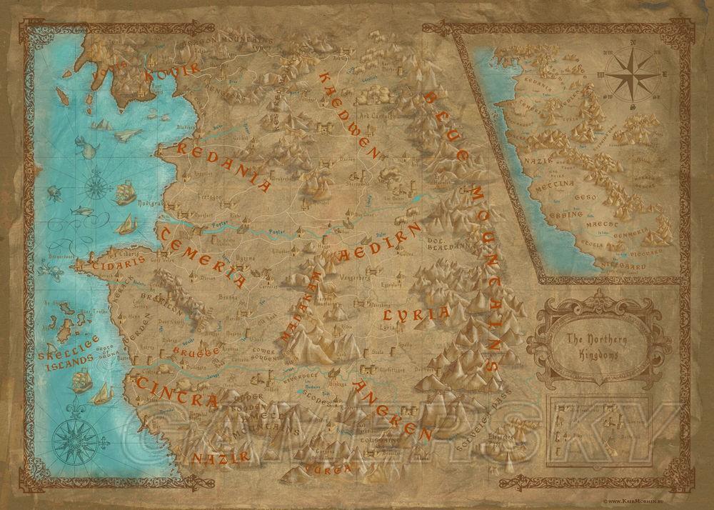 巫師3 遊戲世界與波蘭對比