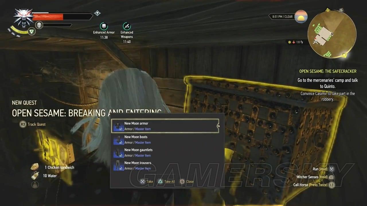 巫師3 DLC石之心新月套裝位置及獲得圖文攻略 巫師3DLC石之心新月套裝怎麼獲得