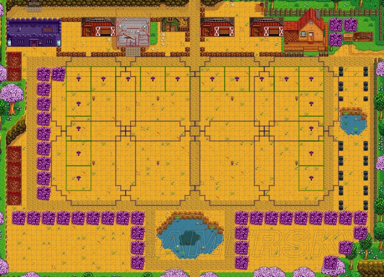 Stardew Valley 農場布局設計圖文分析 怎麼布局農場