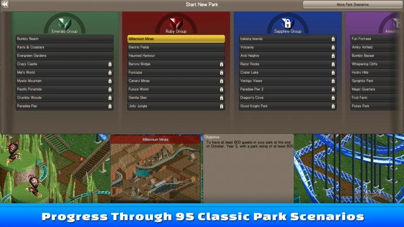 雲霄飛車大亨:經典 免安裝綠色版 RollerCoaster Tycoon Classic 免安裝下載