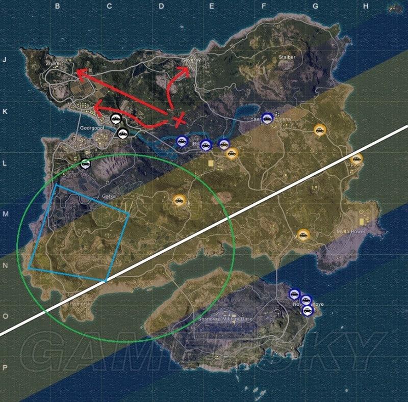 絕地求生 降落點選擇、決賽圈戰術高手進階技巧分析