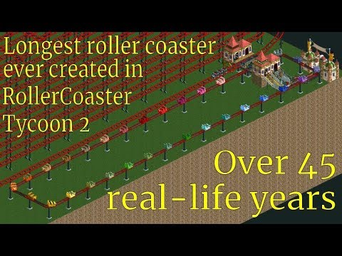 RCT2 - 45 Years in Hell - Longest roller coaster ever created