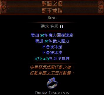 夢語之痕 藍玉戒指
