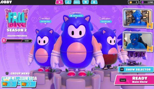 《糖豆人:終極淘汰賽》與 SEGA 合作將加入 Sonic 音速小子皮膚,給你心理上的速度加成!