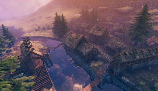 玩家在《Valheim》中還原《上古卷軸5》溪木鎮,享受建築的樂趣