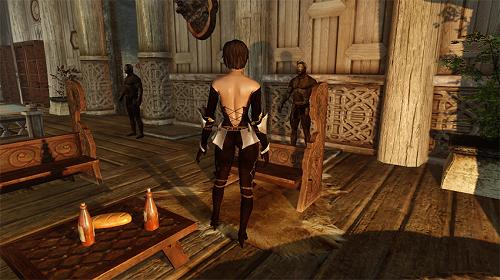 上古捲軸5 黑暗姐妹會性感緊身輕甲套裝MOD 補丁下載