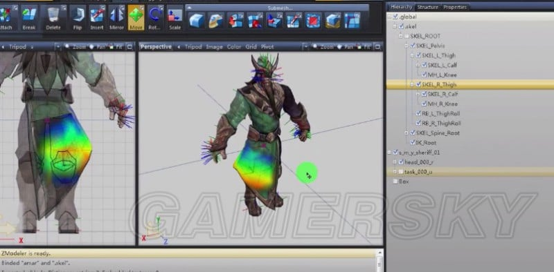 GTA5 MOD向快速綁定骨骼詳細教學